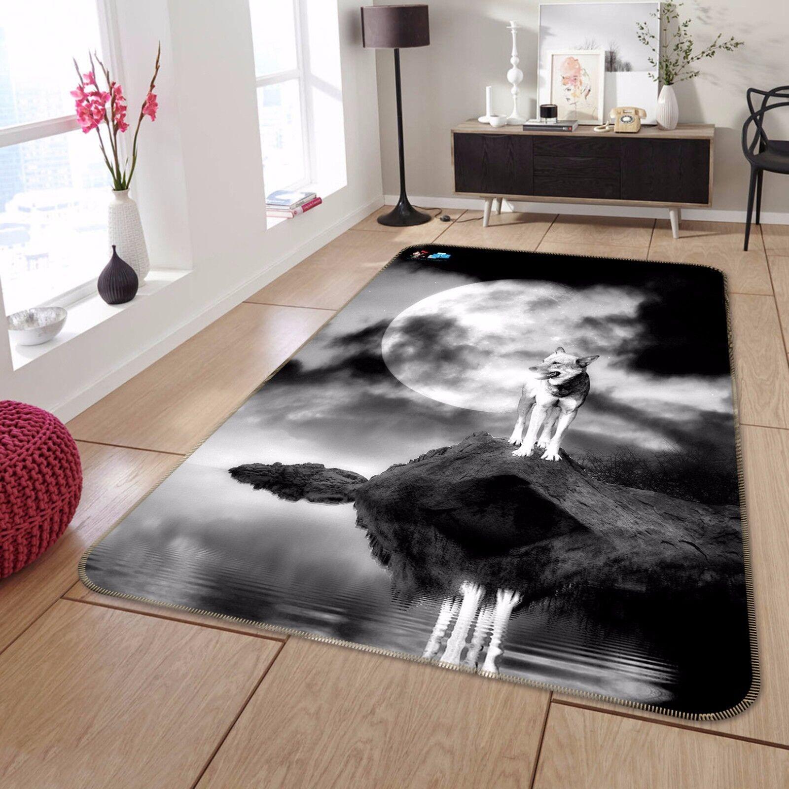 3D Wolf Night Night Night 6 Non Slip Rug Mat Room Mat Quality Elegant Photo Carpet AU Summer d2b020