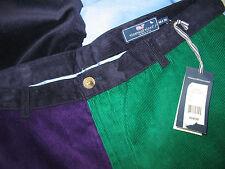 NWT Vineyard Vines Men's Classic Fit Club Pants 4 Panel Corduroys 40 x 30 $165