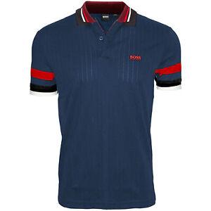 BOSS Hugo Men's Drop Needle Cotton Slim Fit Ribbed Polo T-Shirt