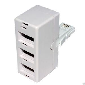 3 BT téléphone splitter way triple socket adaptateur y-afficher le titre d`origine rCMTYKHT-07153853-391341014