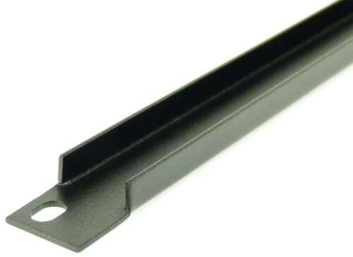 """2 x 0,5 HE U-Form Rackblende black Frontplatte Rackpanel Blende U 19/"""" 0,5HE"""