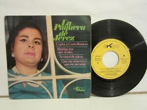 La-Paquera-De-Jerez-Coplas-A-Curro-Romero-3-EP-1968-Spain-VG-VG