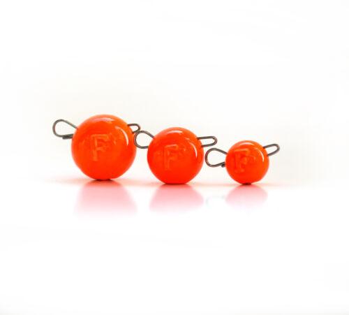 023 Cheburaschka 3 Stück Orange FANATIK Cheburashka Jigkopf 60 Gramm