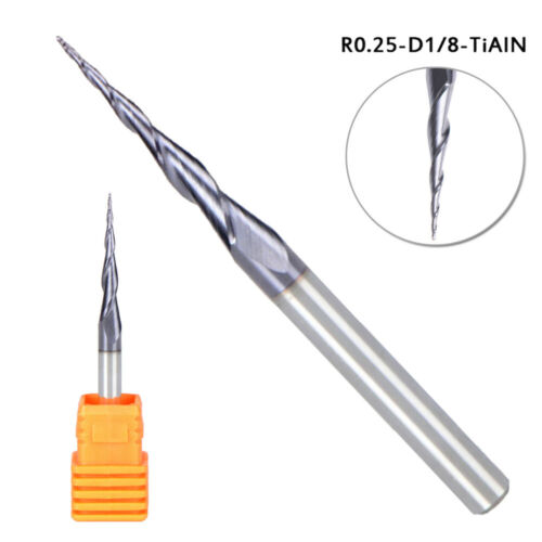 CNC End Mill Ball Nose Tungsten Carbide Cutter With Plastic Box Tools Durable