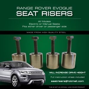 Fine Details About Range Rover Evoque Seat Risers 2011 2019 All Models Ibusinesslaw Wood Chair Design Ideas Ibusinesslaworg
