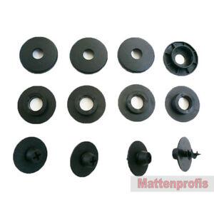 Mattenprofis Befestigungen für Skoda Fußmatten Gummimatten runde Bef im Set
