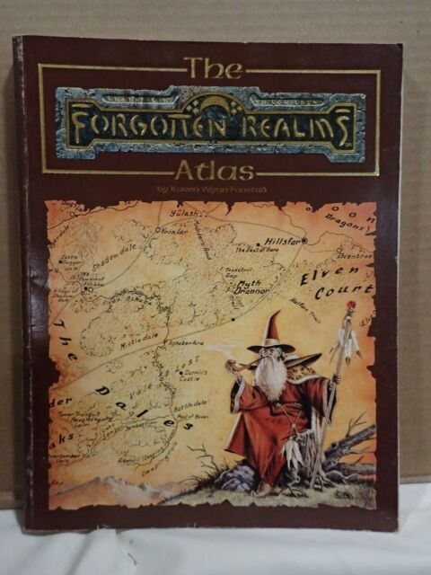 Advanced Dungeons and Dragons: Forgotten Realms Atlas by Karen W  Fonstad  (1990, Hardcover)