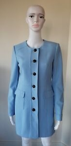 2 Topper Longues Lagerfeld Manches Femme Karl Blue Buttoned Manteaux Paris Taille Cloud tSUwXqP