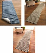 "EXTRA LONG NONSLIP STRIPED FLOOR RUNNER RUG CARPET 7 COLORS 4 SIZES 60"" 90"" 120"""