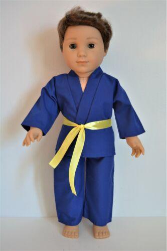 "Handmade Doll Clothes Karate Uniform Colors Judo Gi TKD 18/"" American Girl Dolls"