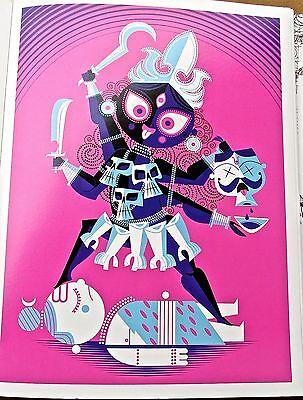 Hindu Goddess Kali Poster Reprint Female with Scythe Artwork-Sanjay Patel 15x11