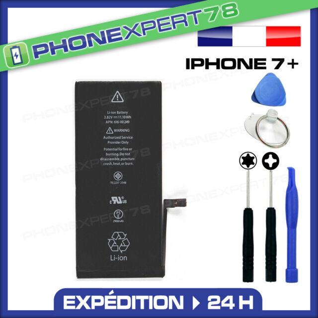 BATTERIE INTERNE POUR IPHONE 7 PLUS NEUVE 0 CYCLE + OUTILS + PENTALOBE