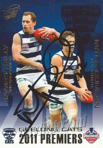 Signed 2011 GEELONG CATS AFL Premiers Card MITCH DUNCAN