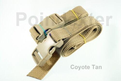 "1 Inch Nylon Webbing Poly 36/"" Lashing Straps BOB Coyote Tan USA NEW CTCTSR"
