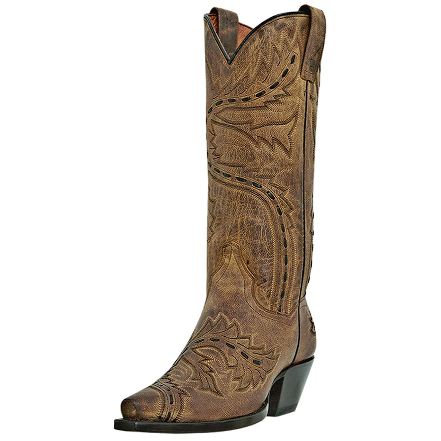 Dan Post Sidewinder Snip Toe Cowgirl Boot Tan DP3422
