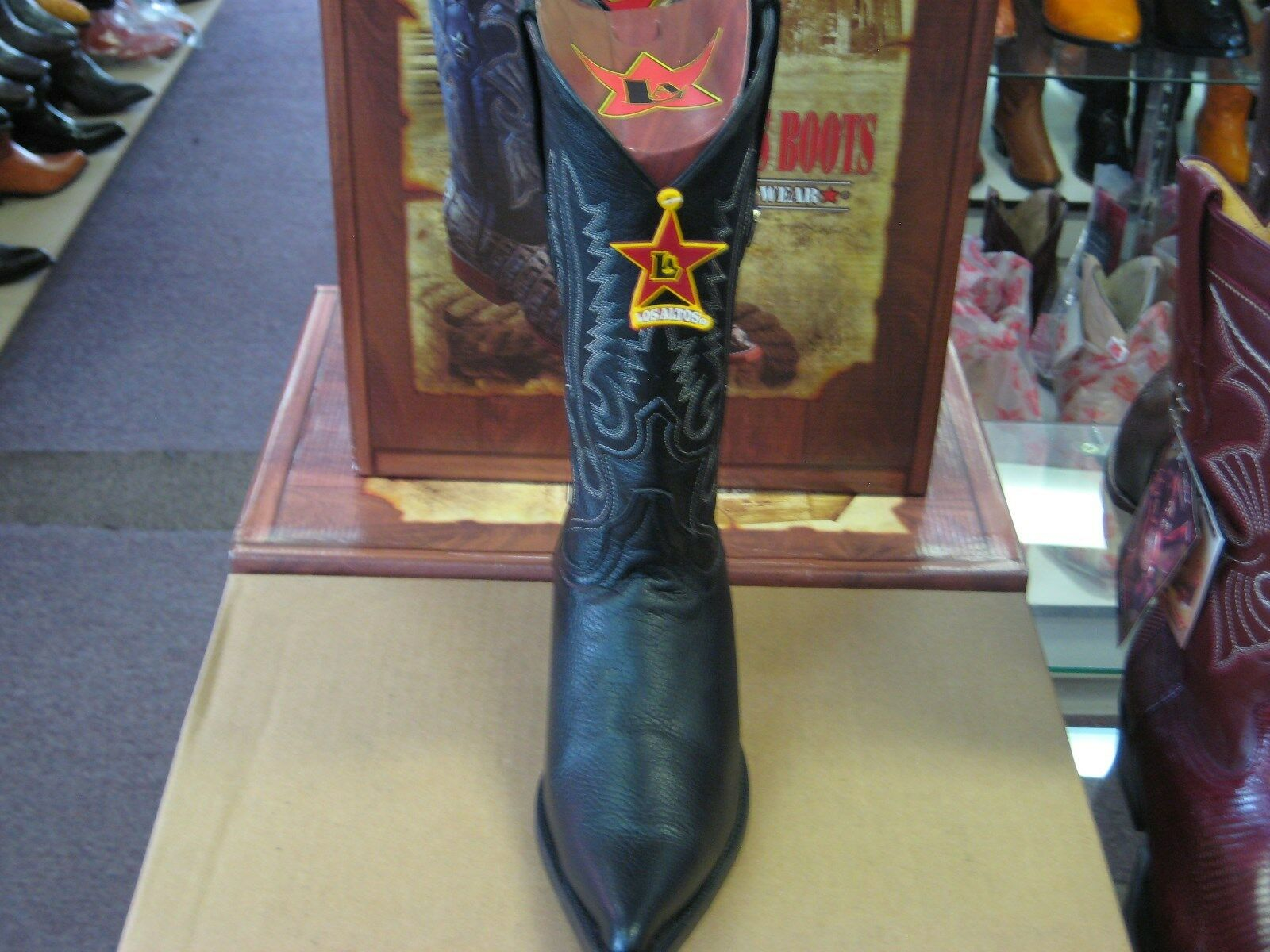 British Mens Zip Rivet Block Mid Calf Boots Buckle Slouch Block Rivet Heel Shoes Leather H55 477227