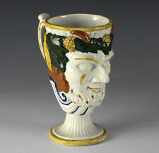 Antique English Prattware Pearlware Satyr Cup 18th-19th Century w/ Frog- feature