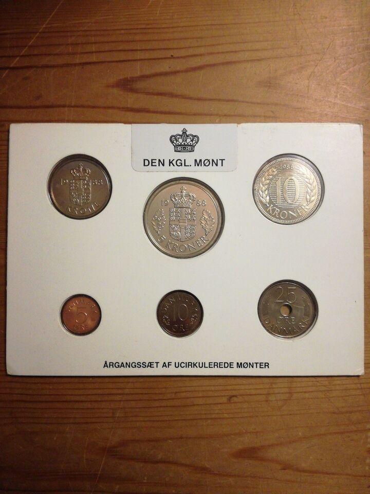 Danmark, mønter, 1988