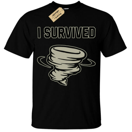 Kids Boys Girls I survived T-Shirt tornado hurricane