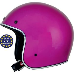 Casco-Homologado-AFX-FX-76-Vintage-Solid-amp-Metal-Flake-Fuchsia-Helmet-S-55-56cm