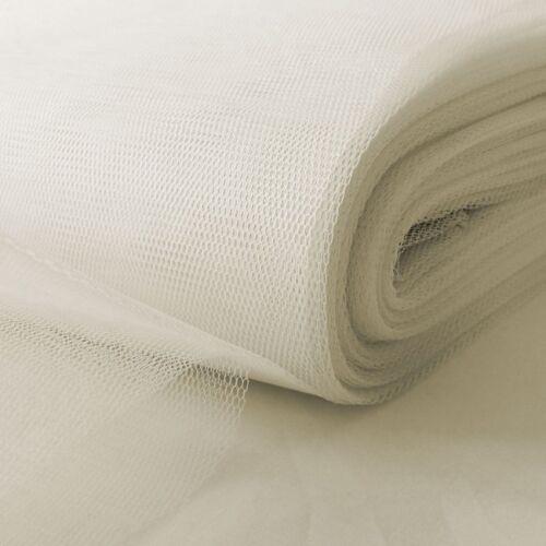 White-Soft Fancy Dress Net TutuT ulle Mesh Fabric 100/% Nylon Material 150cm Wide