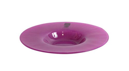 Aster GLASS Fucsia Dinner plates bowl 20cm HAND MADE Beautiful Original design