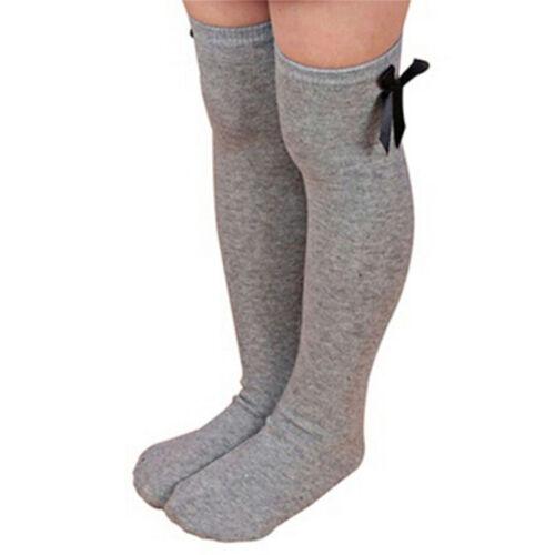 Stockings Bowknot Socks Warm Socks Kids Girls Fashion Striped Cotton Princess FM