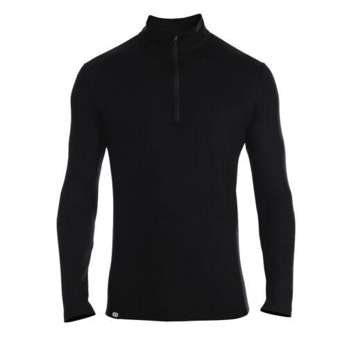 Rewoolution Herren Mesh Langarm Zip-Shirt Castor Merinowolle Funktionsshirt Spor