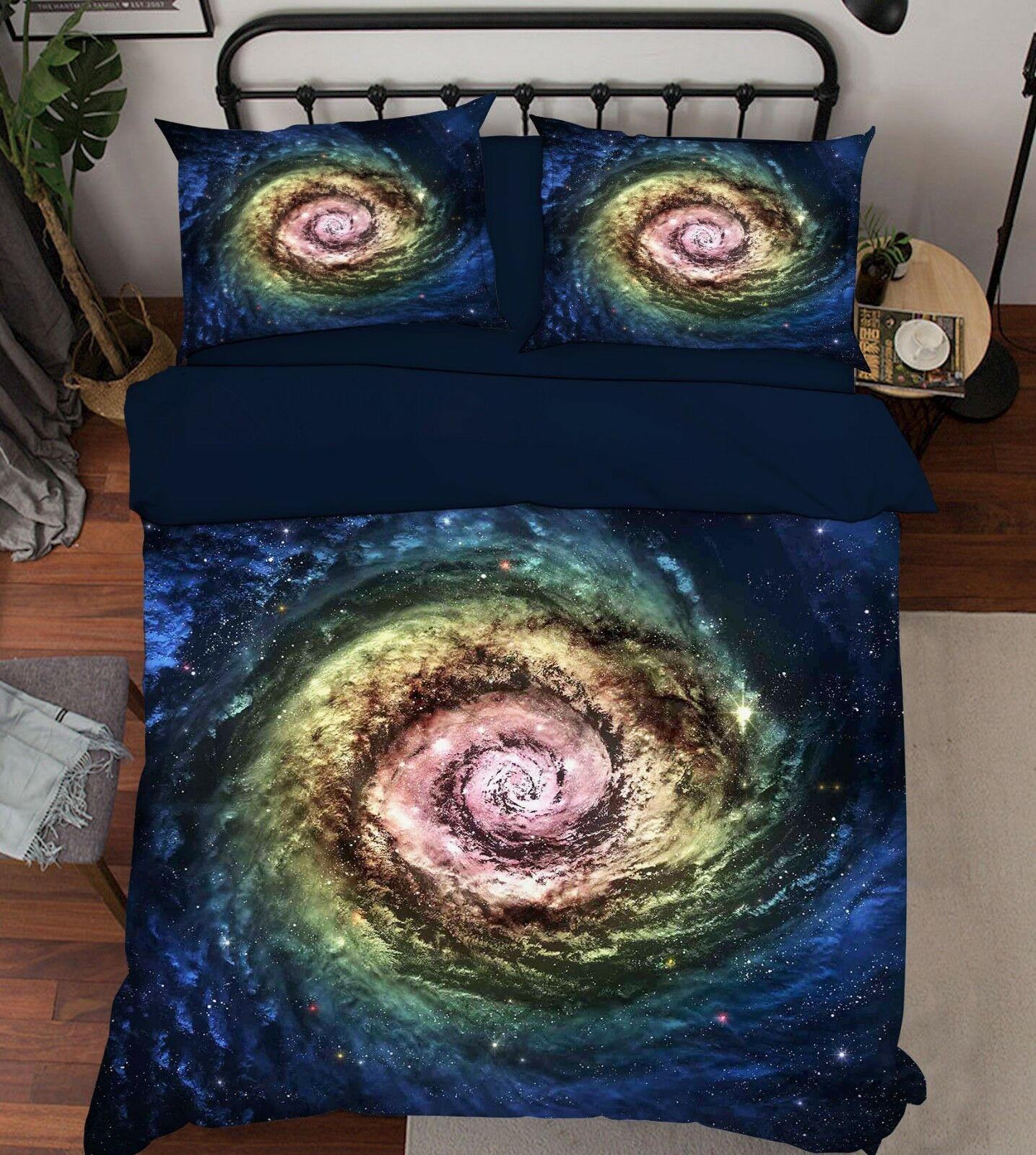 3D Star Galaxy 686 Bed Pillowcases Quilt Duvet Cover Set Single King UK Summer
