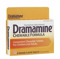 Dramamine Chewable Formula, 8 Chewable Orange Tablets--pack Of 3