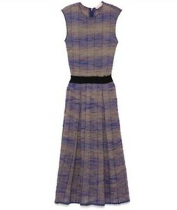 b1ad13fab83 Image is loading NWT-525-Tory-Burch-Nadia-Knit-Midi-Dress-