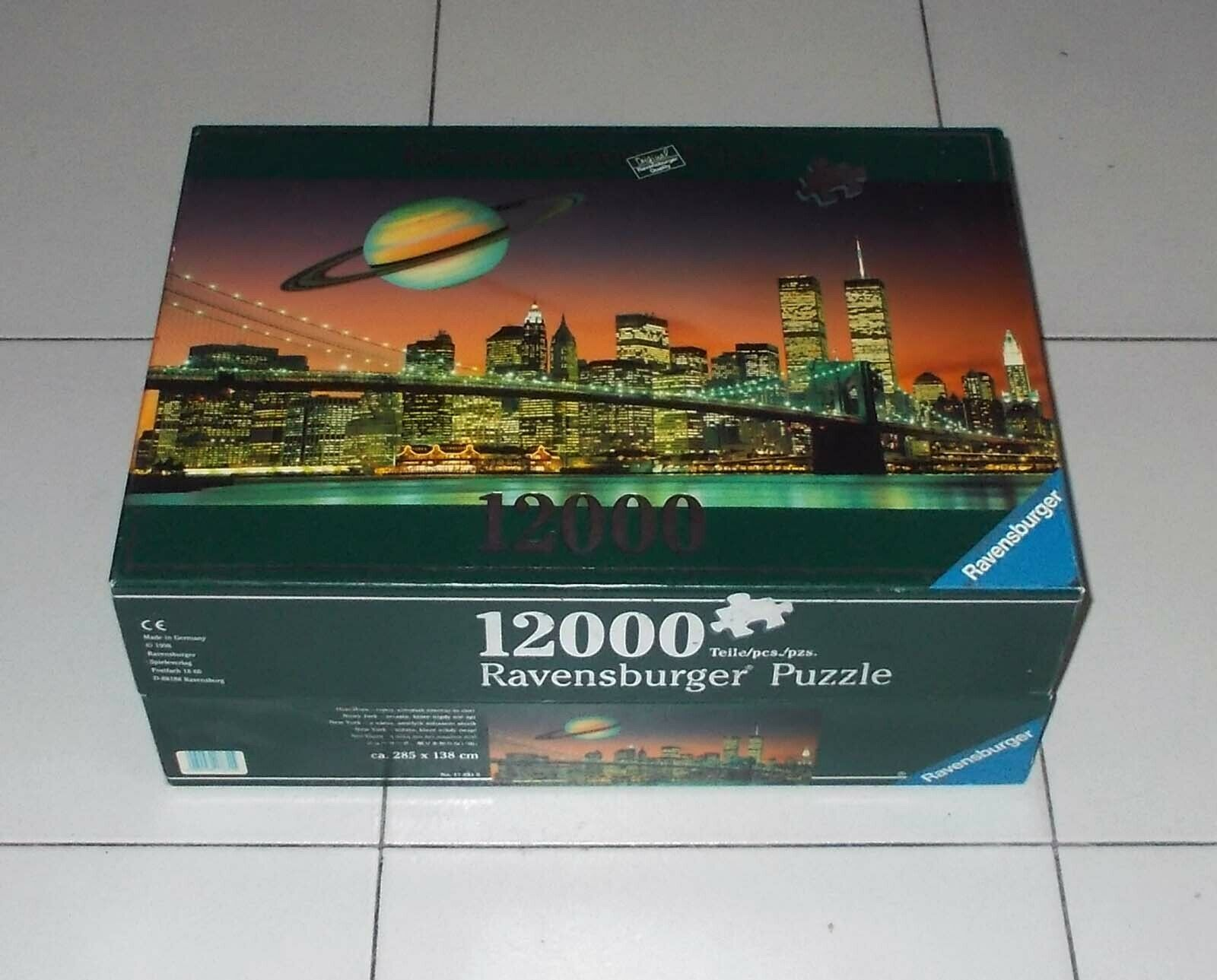 Puzzle Ravensburger 12000 pcs NEW YORK notte - 1998 Twin Towers Skyline Saturno