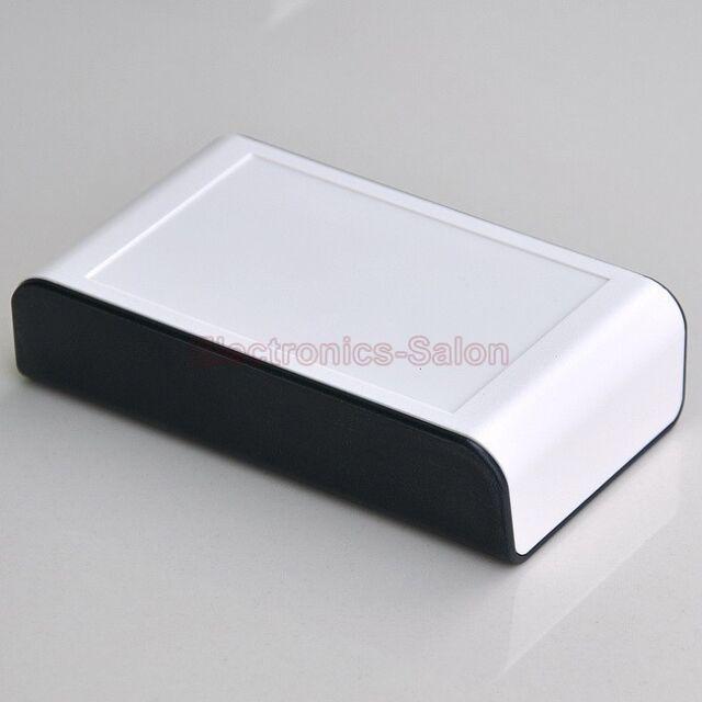 Desktop Instrumentation Project Enclosure Box Case, Black-White, 110x65x28mm.