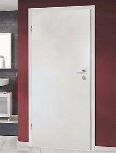 Zimmertür weiß mit zarge  Zimmertür Innentür Bianco Weiß CPL, Zarge, Hoppe Türgriff Türdrücker