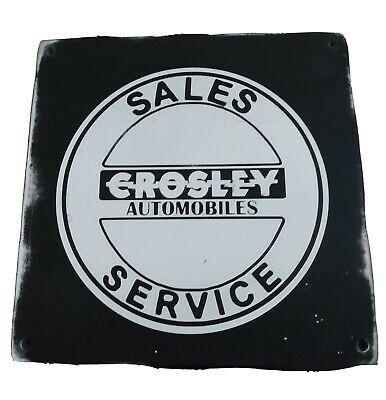 CROSLEY FIELD Trollery Bus Roll Vintage Metal Sign 106180072021