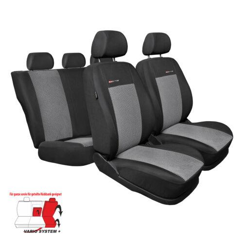 Ford Transit Custom VII 13-8-Sitze Autositzbezüge Schwarz Schonbezüge Sitzbezug