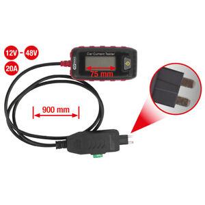 KS TOOLS 12V-48V Sicherungs-Amperemeter 20A, Mini 150.3096