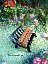 Miniature Fireplace Base with Logs 61085  Dollhouse Fairy Garden Diorama