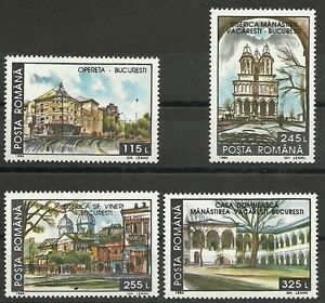 Topical Stamps Nice Architektur/ Rumänien Minr 4950/53 ** To Win A High Admiration And Is Widely Trusted At Home And Abroad.