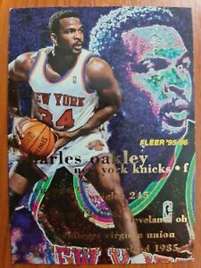 Carte Collection basketball 🏀 Fleer 95 96 NBA Charles Oakley #123