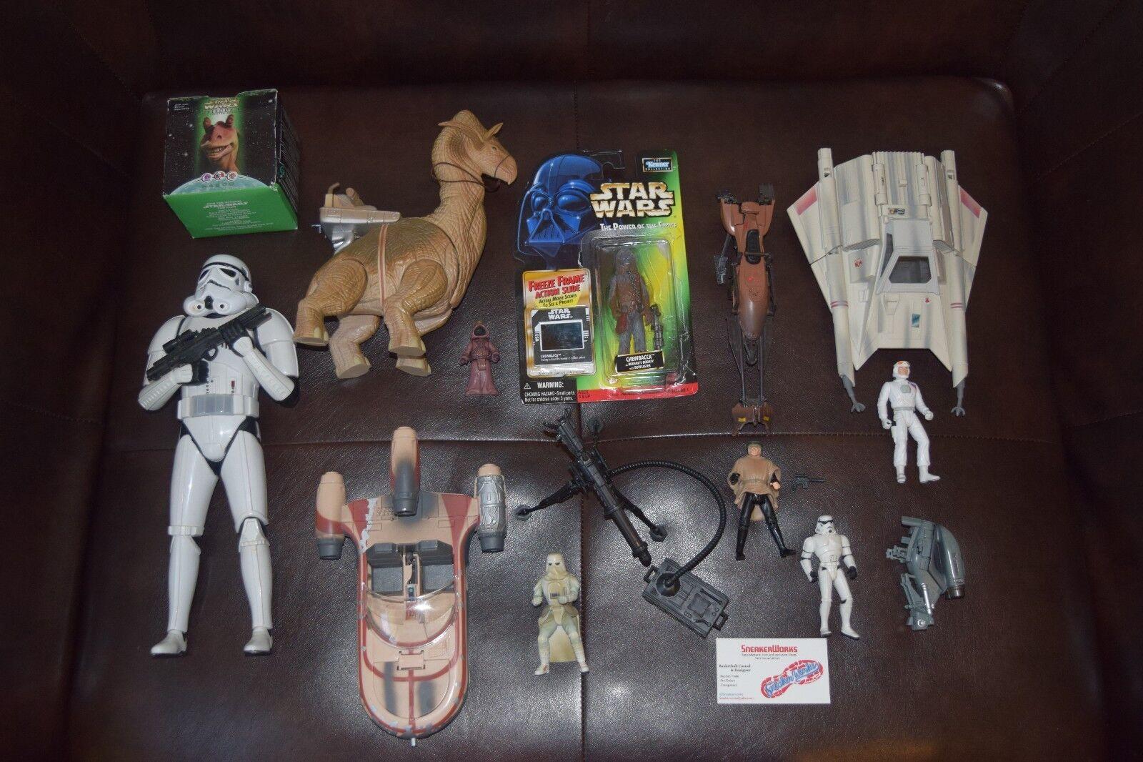 Lote De Estrella Wars Stormtrooper Luke Speederbike Airspeedr Chewbacca Snowtrooper