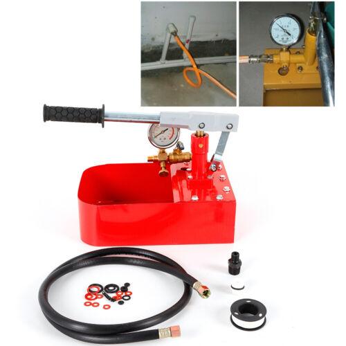 1000PSI Manual Pressure Test Pump Iron Pump Tester Body High-Precision 70KG Red