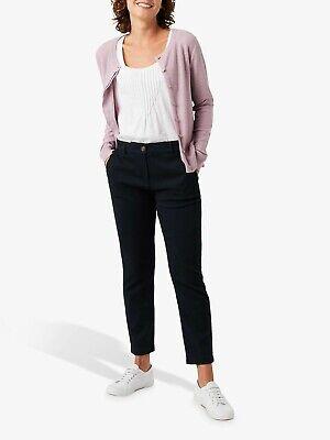 White Stuff Womens Black Stretch Slim fit Cropped Trousers Ankle Grazer Capris