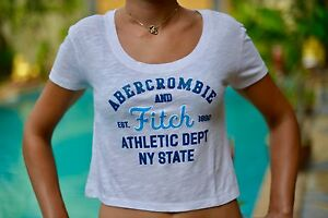 Abercrombie-and-Fitch-Athletic-Dept-NY-State-Tee-shirt-neuf-taille-L