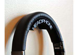 Headphone Holder Headset Hanger Wall Mount Stand Hook Headphone Text Ebay