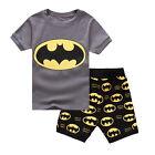 Super Hero Toddler Kids BoysClothes Coat T-Shirt Top Pants Pyjamas Outfits Set
