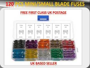 120PCS TOYOTA CAR AUTO ASSORTMENT MINI BLADE FUSES BOX *5 10 15 20 25 30 AMP*