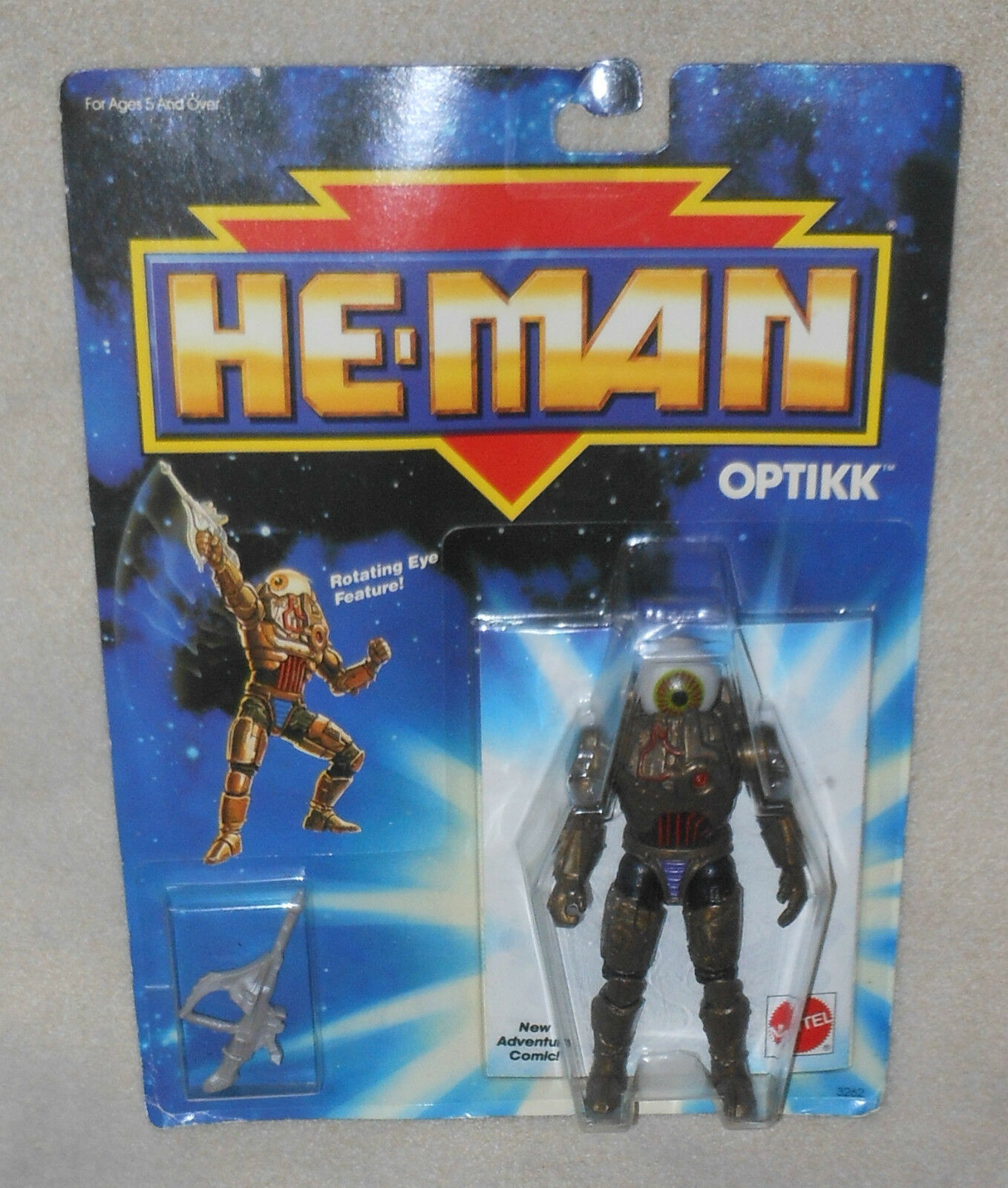HE-MAN 1989 OPTIKK redating Eye Feature & Comic  Mattel 1989 New in Box