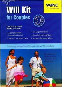 Wilpac australian diy legal will kit for couples rrp 2995 ebay image is loading wilpac australian diy legal will kit for couples solutioingenieria Choice Image