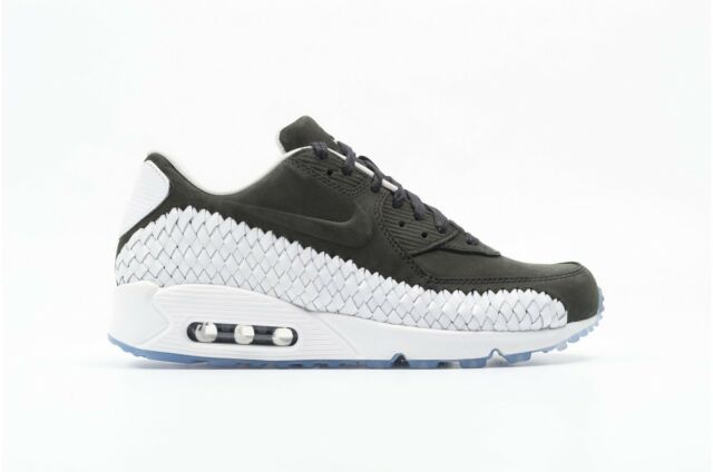 53cb1183179ac Nike Air Max 90 Woven Size 9.5 Men s Running Shoes Black White 833129 003  NEW
